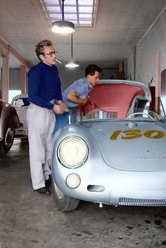He loved his porsche; its ironic that he died in the one thing that made him happy. So sad. James Dean and his Porsche