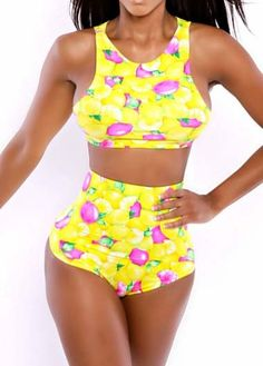 BEACH HIPPIE Floral 2-PC Swimset Yellow Print $25 SHIPS FREE BEACH HIPPIE (Patent Pending) Ladies Clothing KIOSKS IN NJ AND & NY ♥ ♥ ♥ AUTHENTIC TOP BRANDS♥ ♥ ♥ OUR PRICES ARE THE BEST!...GUARANTEED