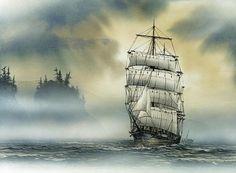 Island Mist   James Williamson . Watercolors