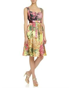 Multi Colour Cotton Floral Dress Antonio Marras