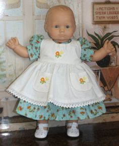 Bitty Baby Dress and Pinafore in Aqua by RuthielovestoSew on Etsy Girl Dolls, Baby Dolls, Bitty Baby Clothes, Baby Ideas, American Girl, Aqua, Flower Girl Dresses, Etsy Shop, Trending Outfits