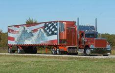 truckingworldwide2:Mack Superliner custom  with matchin reefer -...