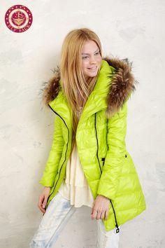 608a4621fbc handmade Womens Winter coat fur collar Hooded 90 by swanstore