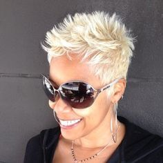 Advertisement: Short, spiky hairstyles are very popular with women because they can suit a lot of styles! An edgy, punky style goes brilliantly with short spiky hair, but it is also a great short haircut for older women… Continue Reading → Short Spiky Hairstyles, Short Pixie Haircuts, Hairstyles 2016, Blonde Haircuts, Medium Hairstyles, Punk Pixie Haircut, Chic Haircut, Male Hairstyles, Korean Hairstyles