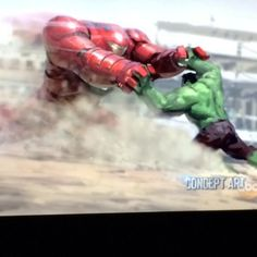 Avengers: Age of Ultron concept art: Hulk vs Hulkbuster Armour by Tony Stark. This is gonna be one epic fight!