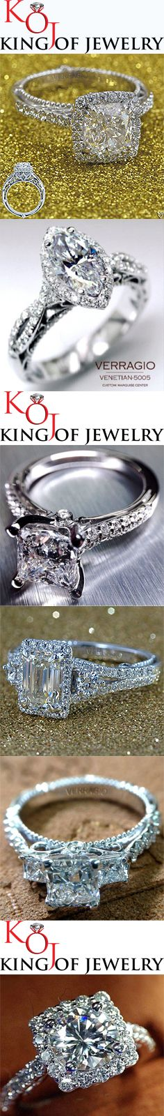 Verragio diamond engagement rings at www.kingofjewelry.com