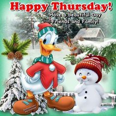 Donald Duck Happy Thursday Winter Quote christmas thursday thursday quotes thursday quotes and sayings christmas thursday quotes thursday images thursday pics christmas thursday images donald duck thursday images