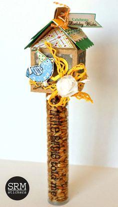 SRM Stickers - Birthday Bird House Tube by Shantaie - #tube