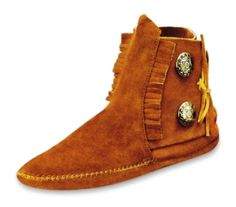 Moccasins Boots for Women | Moccasin Ankle Hi Fringe Boots at Minnetonka Moccasins, Womens Shoes ...