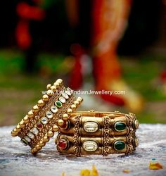 intricate antique gold bangles