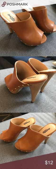 Charlotte Russe shoes size 6 excellent condition Charlotte Russe shoes size 6 excellent condition. Charlotte Russe Shoes Mules & Clogs