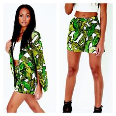 Lavish Alice Banana Leaf Cape Blazer £55 Banana Leaf Shorts £42  High Summer Style at Dolly Mama Boutique ☀️☀️  Email anna@dollymamaboutique.co.uk to order xx