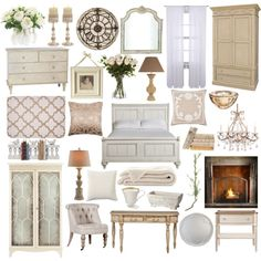 Master Bedroom by beliveinthemakebelieve on Polyvore featuring interior, interiors, interior design, home, home decor, interior decorating, Ethan Allen, Bradshaw Kirchofer, Tritter Feefer and Flamant