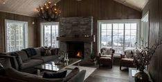 hytte interiør sjø - Google-søk Barndominium, Patio, Living Room, Outdoor Decor, Home Decor, Image, Pictures, Decoration Home, Room Decor