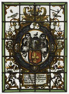 Ecu armorié portant une fleur de lys [Vliermal?], Allemagne, 1612 (Ecouen, musée national de la Renaissance).