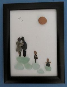 Family Pebble Art Canvas by ShoreThingsNE on Etsy