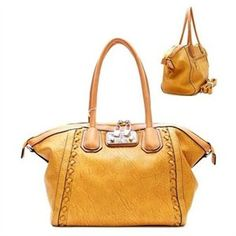 0cb0085c54c1 Vintage Leather Lock Closure Purse and Bag