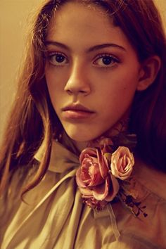 Model wearing vintage blouse by The Crown St Project. Photography: Charlie Dennington. Model: Paris @ Work Models. Stylist: Emma Westblade