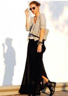 Faldas largas, como combinarlas