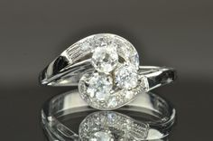 .82 Carat Old Mine Cut 2 Stone Diamond Ring, $1200.00