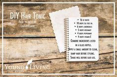 Essential Oil DIY Hair Tonic by Lindsey Elmore (from Rebel Health newsletter)