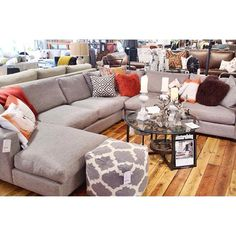 This is a very comfortable sectional to sit or lounge on!