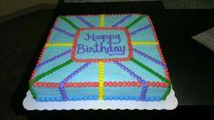Simple birthday cake, no fondant