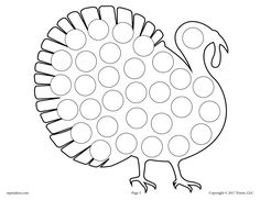 Turkey Do-A-Dot Printable - repinned by @PediaStaff – Please Visit ht.ly/63sNt for all our pediatric therapy pins