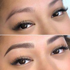 Sparse Eyebrows, How To Color Eyebrows, Natural Eyebrows, Permanent Eyebrows, Permanent Makeup, Semi Permanent, Eyebrow Brush, Eyebrow Pencil, Hair Stroke Eyebrows