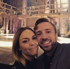 Peter and Evynne Hollens seeing Hamilton <3