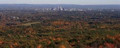 Located in Simsbury, this is where you go to catch a view of the Hartford skyline.