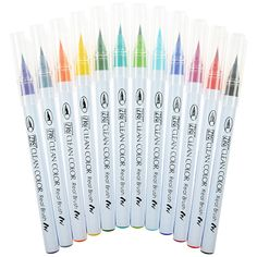 Kuretake Zig Clean Color Real Brush Pen RB-6000A Limited Edition 12 Colour Set
