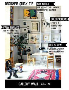// Designer quick tip // Amber interiors gallery wall