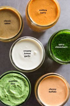 6 Sauces that Aren't Mayo that you need in your life! From chimichurri to creamy lemon garlic avocado lime and more these sauces will add a boost of flavor to meal prep or any vegan paleo and gluten free meal! - Eat the Gains Chimichurri, Sauce Recipes, Vegetarian Recipes, Cooking Recipes, Healthy Recipes, Ninja Blender Recipes, Immersion Blender Recipes, Vitamix Soup Recipes, Free Recipes