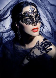 Halloween Lace mask and gloves on liveinternet.ru