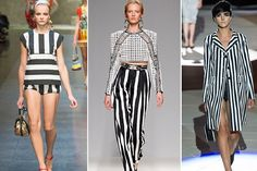 Wear vertical stripes to elongate and flatter your figure!