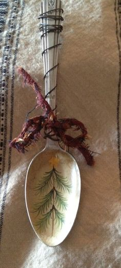 Antique Spoon Christmas Tree Ornament by TheSpeckledRooster,