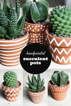 DIY Kaktus Topf bemalen gestalten mit Edding || Sukkulenten Succulents Do it yourself || weiß || painting || Kakteen || Pflanzen || grün || wohnen || Blumentopf || Pflanztopf || plant pot