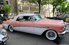 1956 Buick Roadmaster Convertible-My Fathers car when I turned 16 ! Took my drivers test with this car- HS Girls loved for me to take them home after school- dad could never figure out where all the gas went! Tahiti Coral and White two tone!