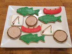 Tara's baby shower Apr 2016  http://lizybbakes.blogspot.in/2012/02/fishing-cookies.html?m=1 http://www.apartmenttherapy.com/a-camping-party-we-wish-we-wer-143712 http://www.sweetsugarbelle.com/2014/02/decorated-bear-cookies/ http://cookieconnection.juliausher.com/clip/fishing-cookies-3