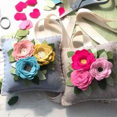 Shipping these tooth fairy pillows today! Felt Flower Wreaths, Felt Wreath, Felt Flowers, Fabric Flowers, Diy Flowers, Paper Flowers, Book Lovers Gifts, Book Gifts, Felt Crafts