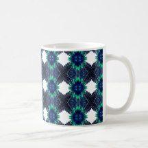 Blue Flower Abstract Coffee Mug