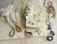 We love the Geode necklaces from ROOST!