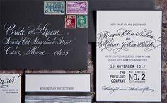 Gus & Ruby Letterpress: Custom Work: Reagan and Marcus
