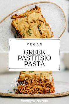 This Greek Pastitsio Pasta Recipe is so damn tasty. I seriously feel so blessed to have this platform to share it with you. You make it up in layers with bechamel sauce pasta sauce and although its easy its mighty delicious. Vegan Dinner Recipes, Delicious Vegan Recipes, Vegan Dinners, Cooking Recipes, Lasagna Recipes, Greek Lemon Rice Soup, Greek Pastitsio, Vegan Greek, Eastern European Recipes