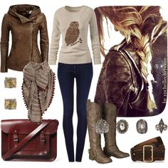 """""""Rustic Fall Outfit with Leather Jacket + Boots"""" by rochellechristine on Polyvore"""