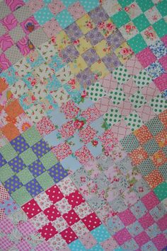 So this week, I've been manically quilting, or patchworking to be precise.  I did finish one smallish cot quilt but I then got completely ov...