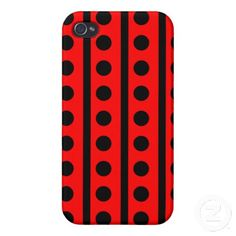 Black and Red Polka Dots Pattern iPhone 4 Covers Cool Iphone Cases, Iphone 4, Iphone Case Covers, Create Your Own, Polka Dots, Cool Stuff, Red, Pattern, Black