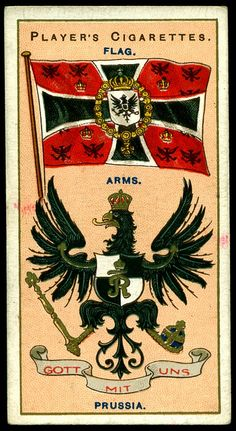 Cigarette Card - Arms & Flag of Prussia