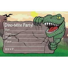 Freebie friday free dinosaur party printables jamesons birthday dinosaur birthday invitations personalized filmwisefo